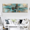 Light Blue Abstract Oil Painting