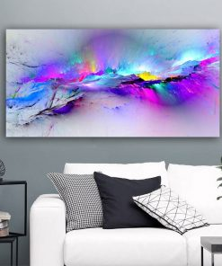 RELIABLI ART Abstract Painting Colorful Clouds Poster Wall Art Posters Room Decoration Picture For Home Canvas Pictures No Frame