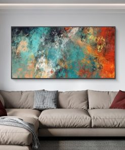 Canvas Art Painting Abstract Clouds Graffiti, Modern Wall Art Painting, Print on Canvas