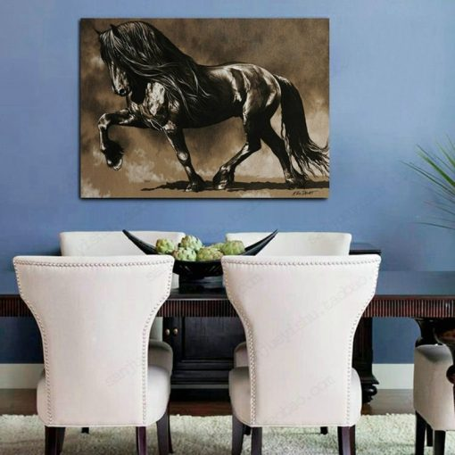 Elegant Horse Art Painting, Wall Art of Animal Picture, Prints on Canvas