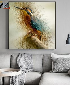 Abstract Watercolor Hummingbird Decorative Oil Painting on Canvas Posters and Prints Cuadros Wall Art Pictures For Living Room
