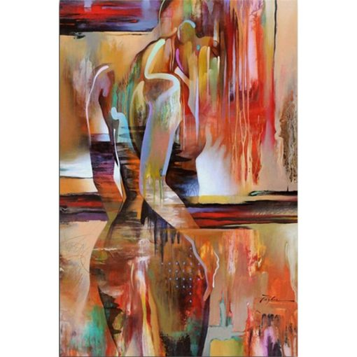 Nordic Canvas Painting Fashion Sex Figure Picture Wall Art Home Decor Poster Living Room Girl Bedroom Abstract Art Oil Painting