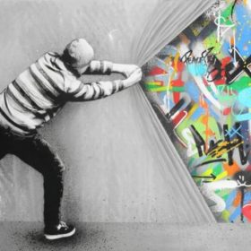 Modern Home Decoration Painting Art Graffiti Print on Canvas
