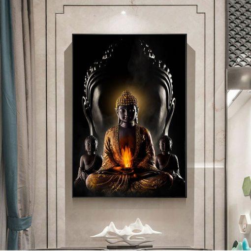 Buddhist God Modern Wall Art Canvas - Print on Canvas