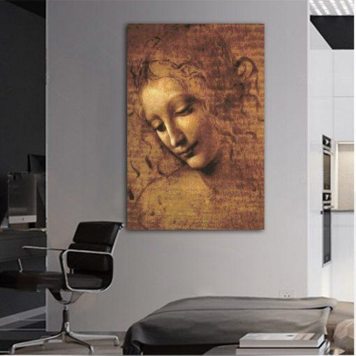 Canvas prints Classic Painting Leonardo DA Vinci Woman's Head Giclee