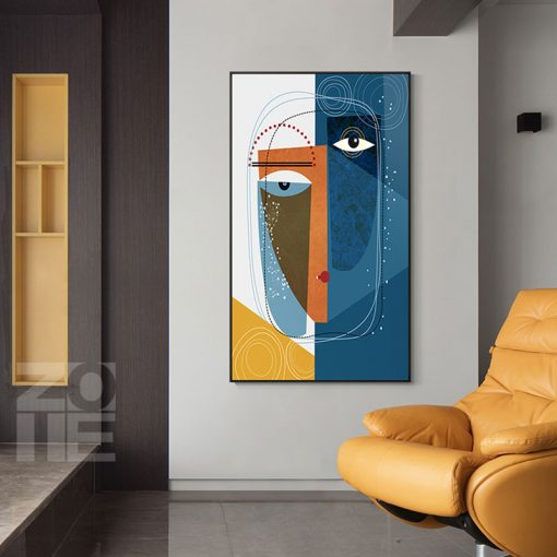Abstract Canvas Painting Retro Classic Wall Art Canvas Black Line Wall Pictures for Living Room Bedroom Unique Poster Home Decor