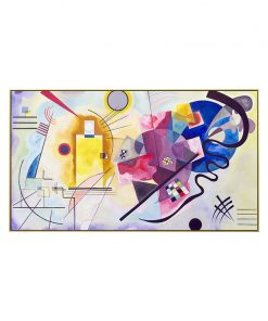 Abstract Kandinsky Canvas Painting Famous Paintings Red Yellow Blue Poster Print Classic Wall Art Picture For Living Room Decor