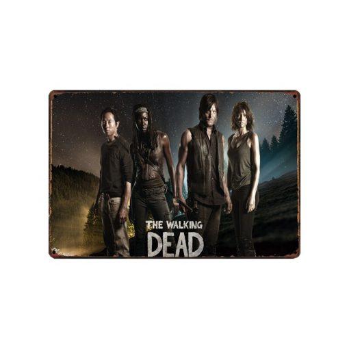 [ WellCraft ] Movie Walking Dead Metal Posters Wall Plaque Custom Tin Sign Antique bar Pub Decor HY-1696