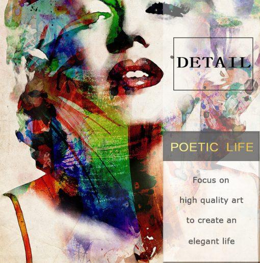 Abstract Canvas Art Famous Star Marilyn Monroe - Print on Canvas