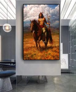 Art Painting Native Indian Landscape Prints on Canvas