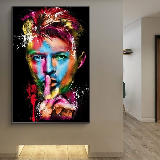 Portrait of David Bowie Art Paintings Print On Canvas Art Posters And Prints Graffiti Art of David Bowie Pictures Home Decor