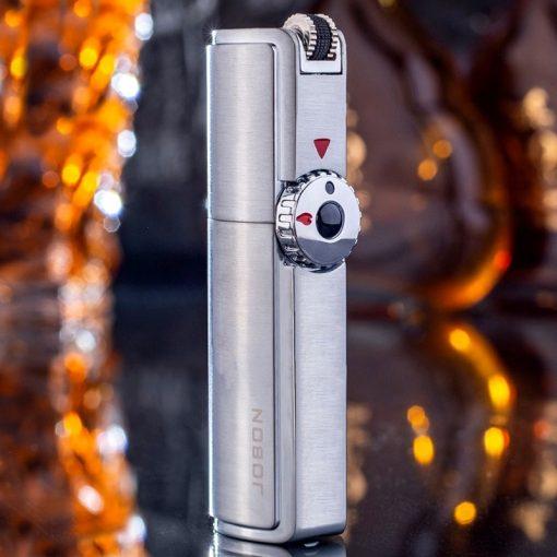 Jobon Triple Torch Lighter 3 Jet Gas Cigar Lighter Turbo Windproof Powerful Metal Spray Gun Kitchen Pipe Flint Lighter Outdoor