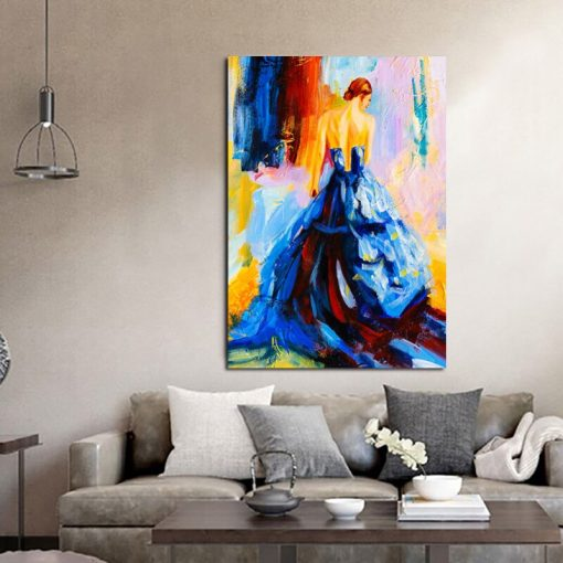 Oil Painting Print Dancing Girl Picture Decorative Painting Art Posters and Prints On Canvas Wall Art For Home Decoration