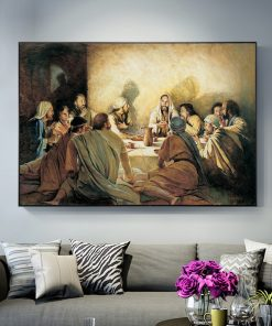 Da Vinci Last Supper Famous Canvas Painting Posters and Prints Jesus and Disciples Scandinavia Wall Art Picture
