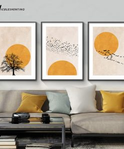 Enjoying the peace of nature in the warmth of the sun - Print on Canvas