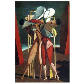 Hector and Andromache by Giorgio De Chirico - Printed on Canvas