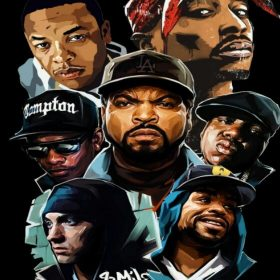 Rap and Hip Hop Music Stars Painting, Wall Art Printed on Canvas
