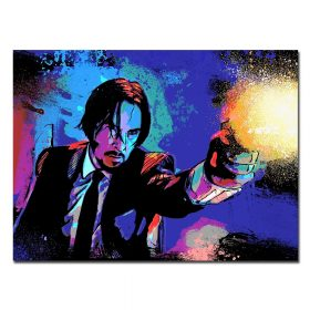 Famous Actor Keanu Reeves' Canvas Painting, John Wick's Movies - Print on Canvas