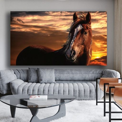 Beautiful Horse Oil Painting Art for Home Decoration - Print on Canvas