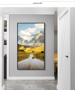 A Wonderful Nature Scenery Of Road Landscape - Print on Canvas