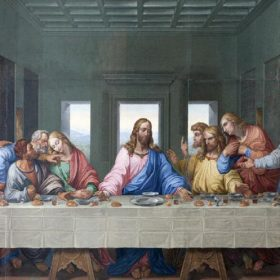 The Last Supper of Jesus and His Disciples Oil Painting, Wall Art Printed on Canvas