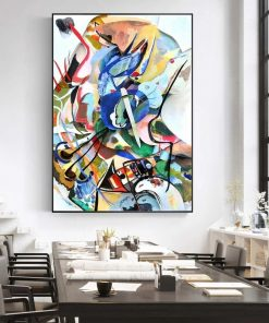 Wassily Kandinsky Abstract Art Painting, Famous Artwork Home Decoration Printed on Canvas