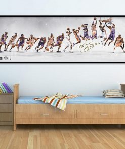 Basketball Star Canvas Painting Kobe Commemorative Poster Classic Slam Dunk Wall Art Pictures for Living Room Home Decor Murals