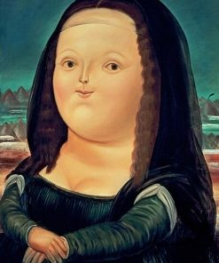 Funny Mona Lisa Canvas Art Canvas Painting Cuadros Posters Prints Wall Art for Living Room Home Decor (No Frame)
