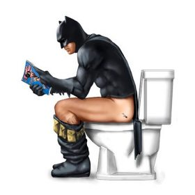 Modern Funny Cartoon Toilet Superhero Posters Movie Canvas Painting Nordic Prints Wall Art Pictures for Kids Living Room Decor