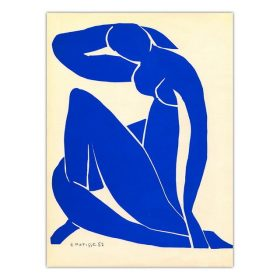 Abstract Blue Nudes Painting, Home Decoration Wall Art Printed on Canvas