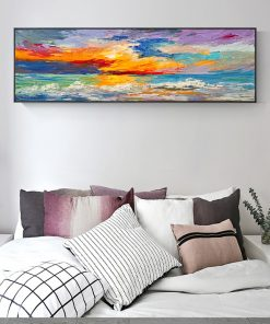 Colorful Abstract Art Oil Painting Printed on Canvas