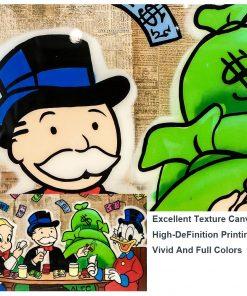 ALEC Monopoly Graffiti Art Painting Print on Canvas
