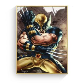 "X-Men Origins ""Wolverine"" The Mutant Human, Retro Comic Art Printed on Canvas"