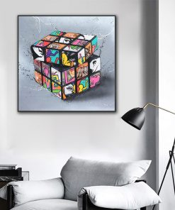 Graffiti Art Canvas Painting Posters And Prints Cuadros Wall Art for Living Room Home Decor (No Frame)
