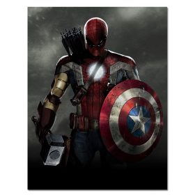 """Captain America Superhero """" The First Avenger """" , Wall Art Picture Printed on Silk Canvas"""