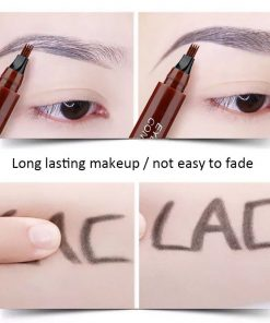 Microblading Eyebrow Pen Fork Tip Fine Sketch Liquid Eyebrow Tattoo Pencil Waterproof Long Lasting Eyebrow Tint Cosmetics TSLM2