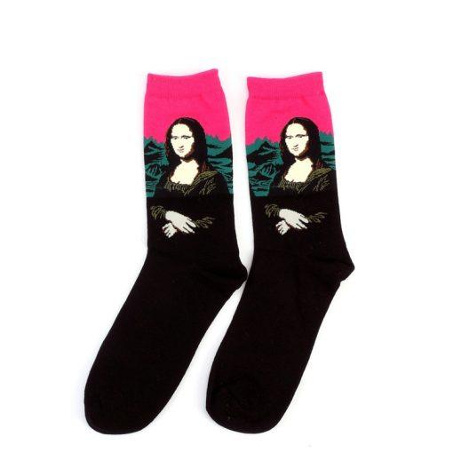 Socks with Art Pattern, Famous Painting Artwork Printed on Socks
