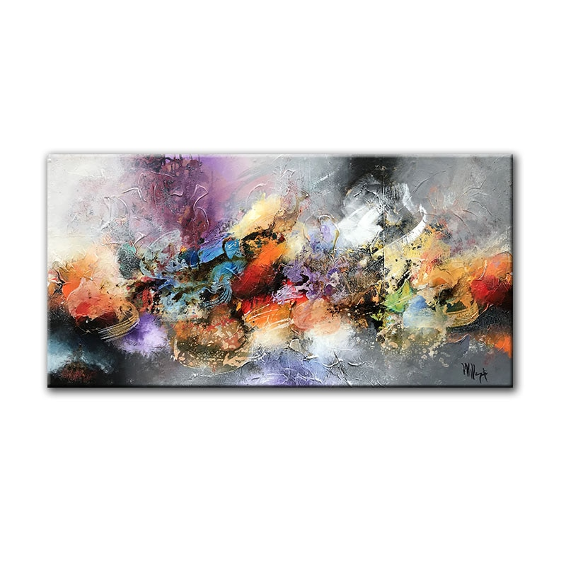 Modern Art Abstract Oil Painting, Wall Art Printed on Canvas