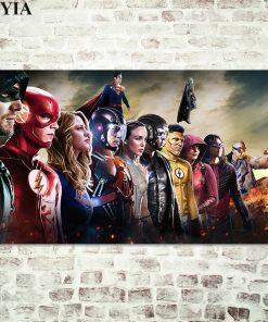 Digital Art of Superheroes in The Arrowverse - Printed on Canvas
