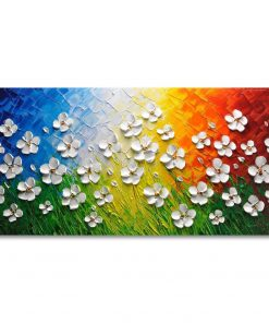 WALL ARTS Texture 3D Daisy Oil Paintings on Canvas Flowers Abstract Floral Wall Art for Home Decor Drop shipping