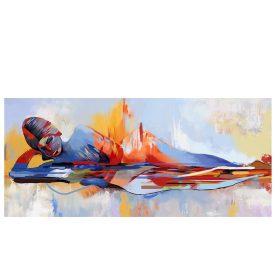 Modern Art Abstract Oil Painting Buddha, Beautiful Wall Art Home Decoration - Print on Canvas