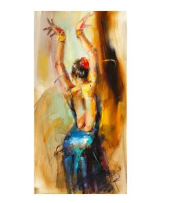 Abstract Dancing Ballerina Girl Oil Painting on Canvas Scandinavian Posters and Prints Wall Art Picture for Living Room Cuadros