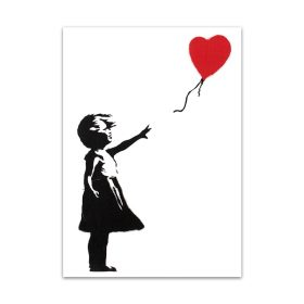 Banksy Graffiti Canvas Art Painting, Painting Black and White Wall Art Poster Home Decoration - Print on Canvas