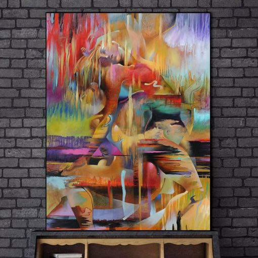 Abstract Figure Fine Art Painting by Timothy M Parker - Printed on Canvas