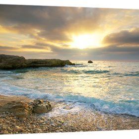 Beach Canvas Print Ocean Wave Sunset Sea No Frame Paintings Art Wall Home Decor