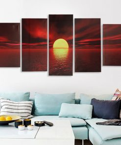 5Pcs Wall Decorative Paintings Canvas Print Art Pictures Frameless Wall Hanging Decorations for Home Office