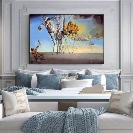 Salvador Dali Famous Art Canvas Paintings on the Wall Art Posters And Prints The Temptation of St. Anthony Classical Art Picture