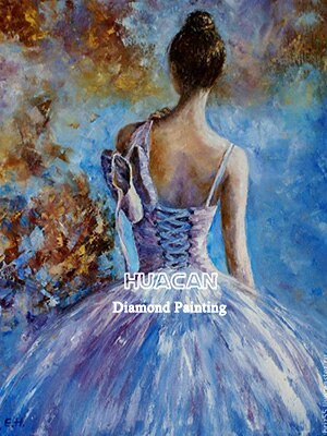 HUACAN 5D DIY Diamond Painting Ballet Portrait Handcraft Art Kits Full Drill Square Embroidery Picture Home Decoration Gift