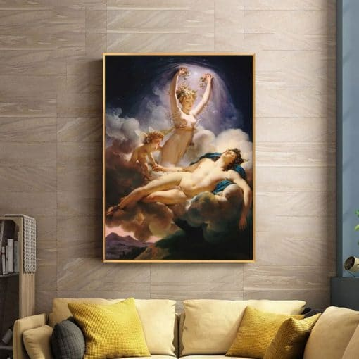 French Guérin - Aurora and Cephalus - Posters and Prints Canvas Wall Art Canvas Famous Painting Pictures for Living Room Decor