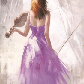Modern Abstract Portrait Posters and Prints Wall Art Canvas Painting the Violin Player Decorative Pictures for Living Room Decor